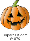 Royalty-Free (RF) Pumpkin Clipart Illustration #4870