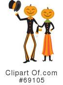 Pumpkin Person Clipart #69105 by Rosie Piter