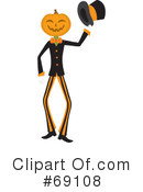 Pumpkin Person Clipart #69108 by Rosie Piter
