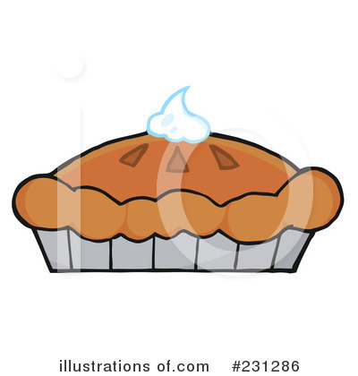 Royalty-Free (RF) Pumpkin Pie Clipart Illustration by Hit Toon - Stock Sample #231286