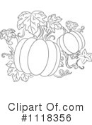 Pumpkins Clipart #1118356 by Vector Tradition SM