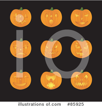 Royalty-Free (RF) Pumpkins Clipart Illustration by Rasmussen Images - Stock Sample #85925