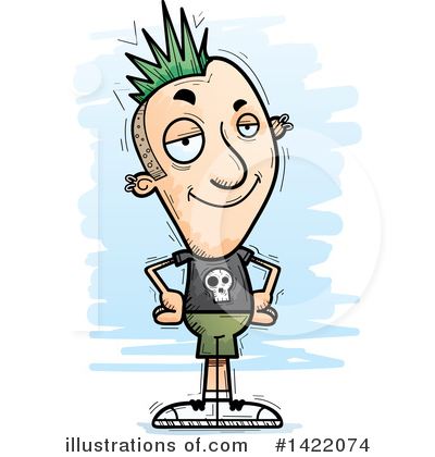 Mohawk Clipart #1422074 by Cory Thoman