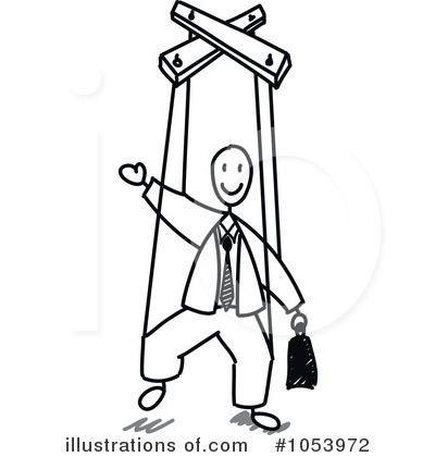 Royalty-Free (RF) Puppet Clipart Illustration by Frog974 - Stock Sample #1053972