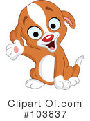 Royalty-Free (RF) Puppy Clipart Illustration #103837