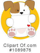 Royalty-Free (RF) puppy Clipart Illustration #1089876