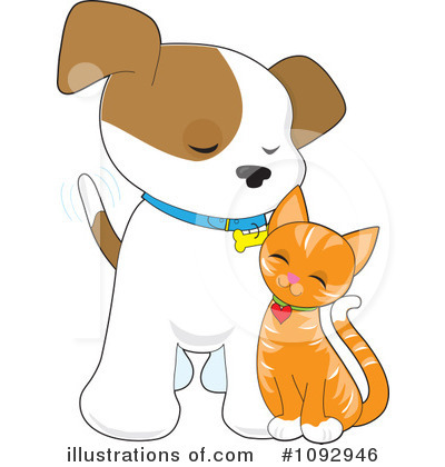 Dog And Cat Clipart #1092946 by Maria Bell