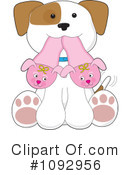Puppy Clipart #1092956 by Maria Bell