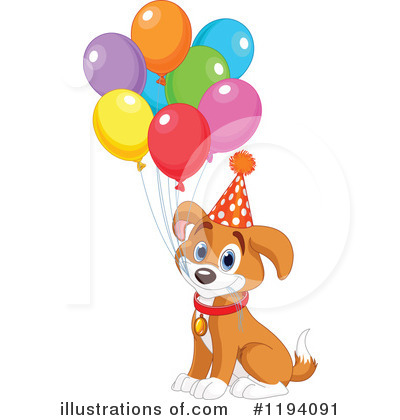 Party Balloons Clipart #1194091 by Pushkin