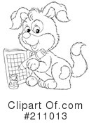 Royalty-Free (RF) Puppy Clipart Illustration #211013