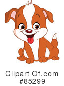 Royalty-Free (RF) Puppy Clipart Illustration #85299