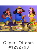 Royalty-Free (RF) Purim Clipart Illustration #1292798