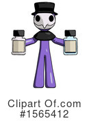 Purple Design Mascot Clipart #1565412 by Leo Blanchette