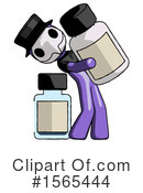 Purple Design Mascot Clipart #1565444 by Leo Blanchette