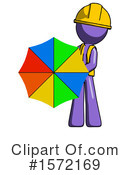 Purple Design Mascot Clipart #1572169 by Leo Blanchette