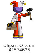 Purple Design Mascot Clipart #1574635 by Leo Blanchette