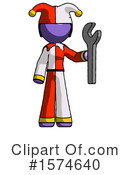 Purple Design Mascot Clipart #1574640 by Leo Blanchette