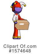 Purple Design Mascot Clipart #1574648 by Leo Blanchette