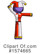 Purple Design Mascot Clipart #1574665 by Leo Blanchette
