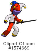 Purple Design Mascot Clipart #1574669 by Leo Blanchette
