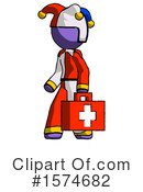 Purple Design Mascot Clipart #1574682 by Leo Blanchette