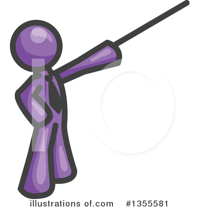 Royalty-Free (RF) Purple Man Clipart Illustration by Leo Blanchette - Stock Sample #1355581