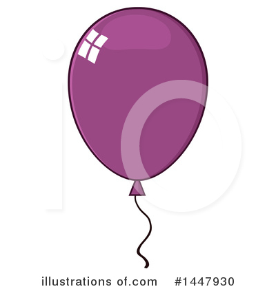 Balloons Clipart #1447930 by Hit Toon