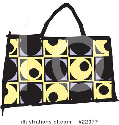 Royalty-Free (RF) Purse Clipart Illustration by Steve Klinkel - Stock Sample #22077