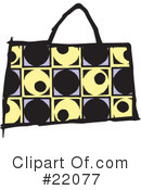 Purse Clipart #22077 by Steve Klinkel