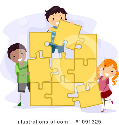 Puzzle Pieces Clipart #1091325 by BNP Design Studio