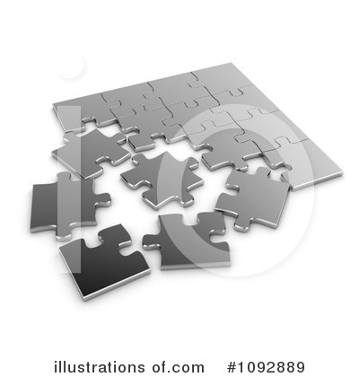 Puzzle Pieces Clipart #1092889 by BNP Design Studio