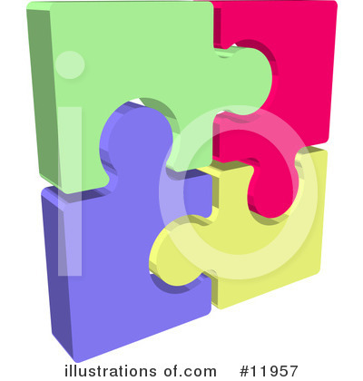 Puzzle Clipart #11957 by AtStockIllustration