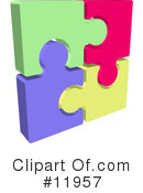 Royalty-Free (RF) Puzzle Clipart Illustration #11957