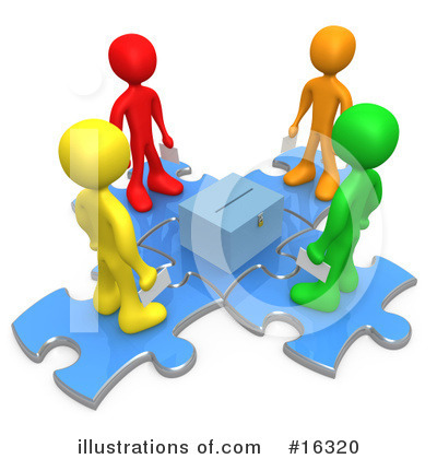 Royalty-Free (RF) Puzzle Clipart Illustration by 3poD - Stock Sample #16320