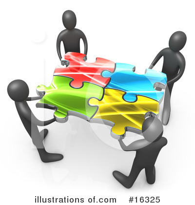 Royalty-Free (RF) Puzzle Clipart Illustration by 3poD - Stock Sample #16325
