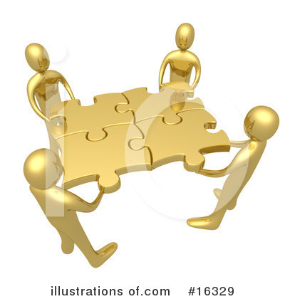 Royalty-Free (RF) Puzzle Clipart Illustration by 3poD - Stock Sample #16329