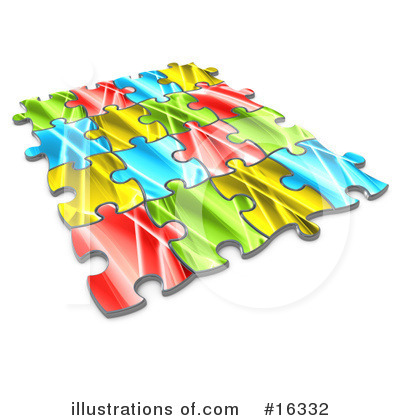 Royalty-Free (RF) Puzzle Clipart Illustration by 3poD - Stock Sample #16332
