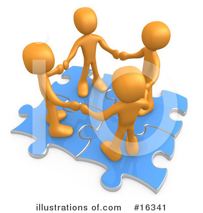 Royalty-Free (RF) Puzzle Clipart Illustration by 3poD - Stock Sample #16341
