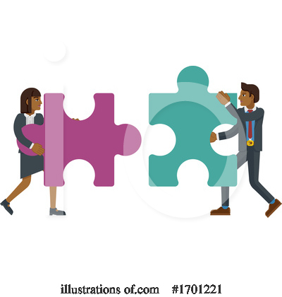 Royalty-Free (RF) Puzzle Clipart Illustration by AtStockIllustration - Stock Sample #1701221