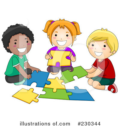 Royalty-Free (RF) Puzzle Clipart Illustration by BNP Design Studio - Stock Sample #230344