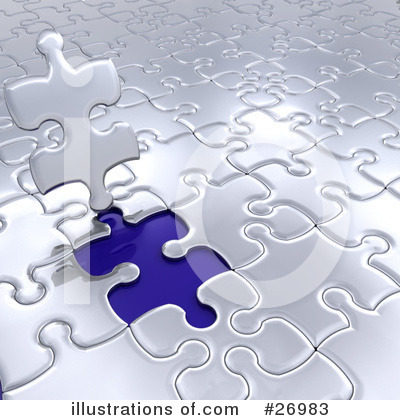 Royalty-Free (RF) Puzzle Clipart Illustration by KJ Pargeter - Stock Sample #26983