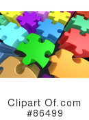 Royalty-Free (RF) Puzzle Clipart Illustration #86499