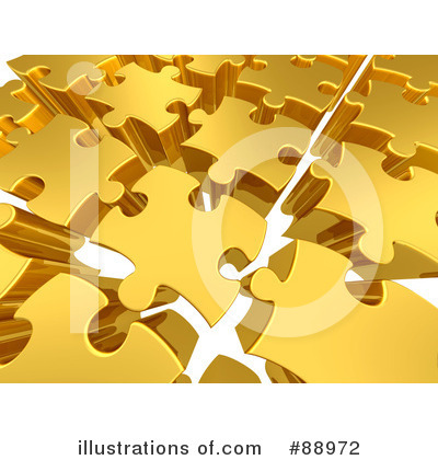 Royalty-Free (RF) Puzzle Clipart Illustration by 3poD - Stock Sample #88972