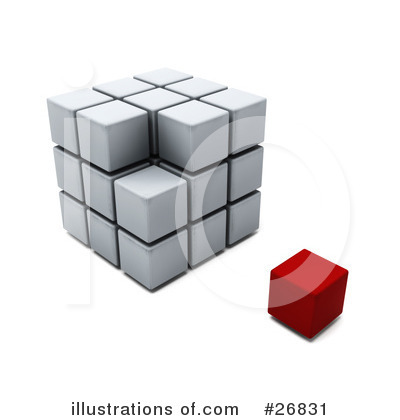 Royalty-Free (RF) Puzzle Cube Clipart Illustration by KJ Pargeter - Stock Sample #26831