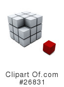 Royalty-Free (RF) Puzzle Cube Clipart Illustration #26831