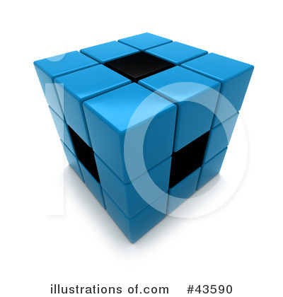 Puzzle Cube Clipart #43590 by Frank Boston