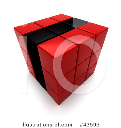 Puzzle Cube Clipart #43595 by Frank Boston
