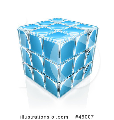 Royalty-Free (RF) Puzzle Cube Clipart Illustration by 3poD - Stock Sample #46007