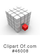 Royalty-Free (RF) Puzzle Cube Clipart Illustration #46008