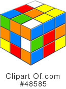 Royalty-Free (RF) Puzzle Cube Clipart Illustration #48585